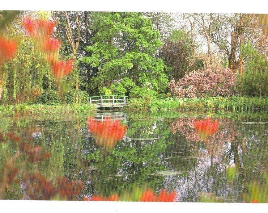 Monet's Gardens Series, Footbridge, Postcard