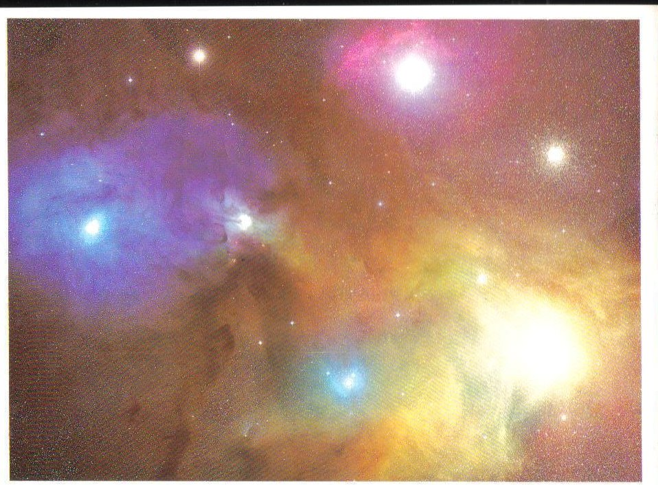 Antares and Nebula around Rho Ophiuchus Universe Postcard