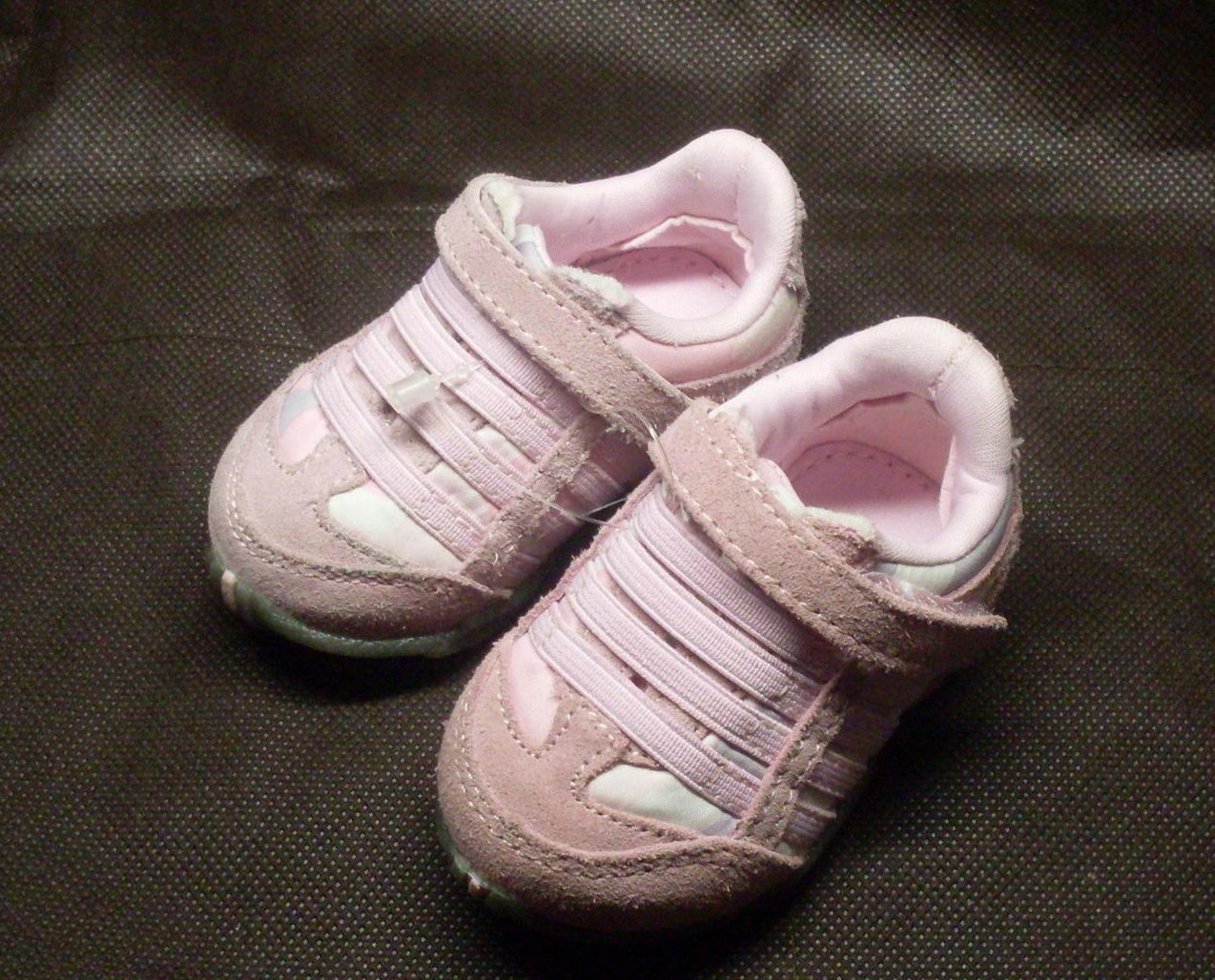 Infant Toddler Baby Girl Sneakers Pink Size 1 Shoes Teeny Toes