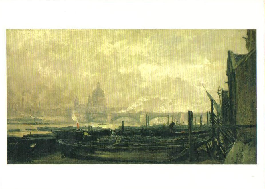 St Paul's from the Surrey Side Art Print Postcard
