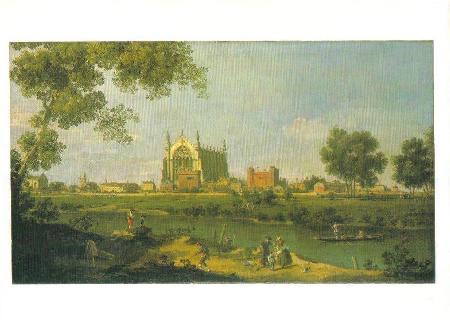 Eton College Canaletto Art Print Postcard