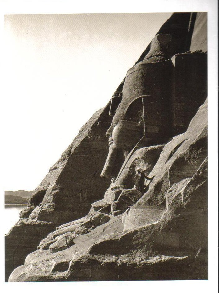Colossal Statues at temple of Ramesees II at Abu Simbel Postcard