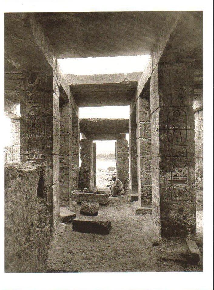 Hypostyle Hall-Temple of Amada, Nubia Postcard