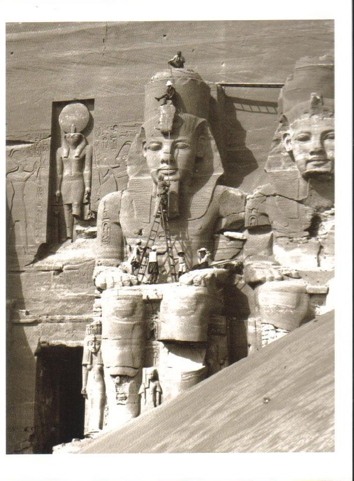 Facade of the Great Temple at Abu Simbel Postcard