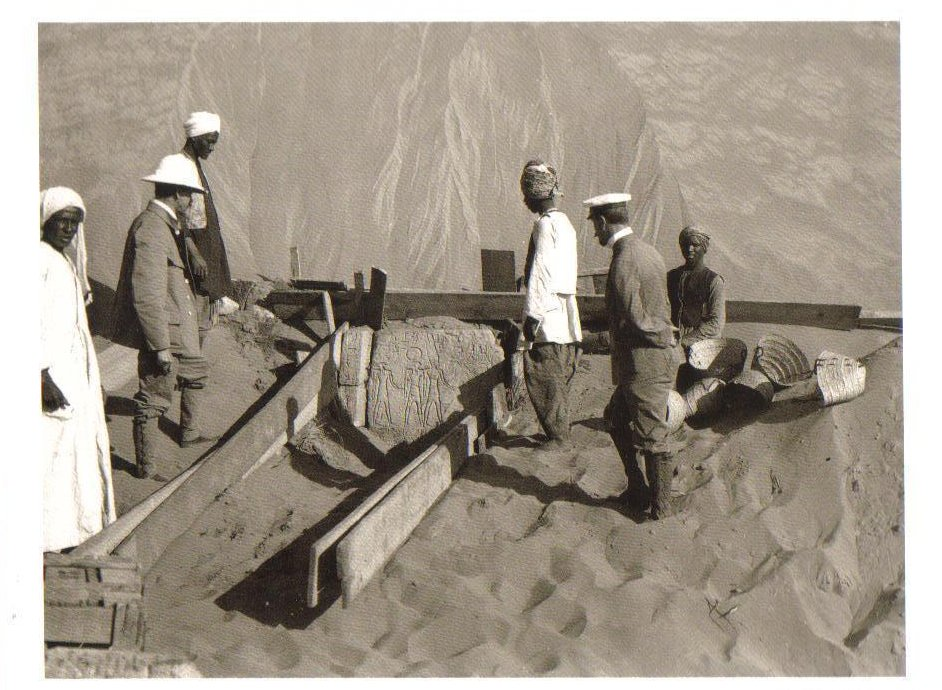 Excavation North of the Great Temple at Abu Simbel Postcard