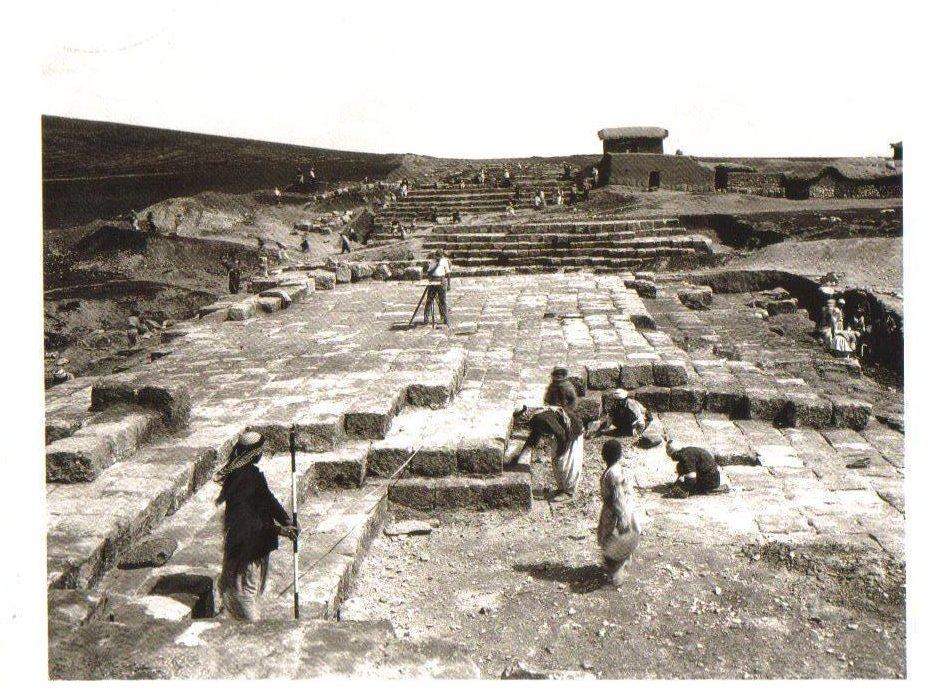 Excavation of The Aqueduct of Sennacherib, Iraq Postcard