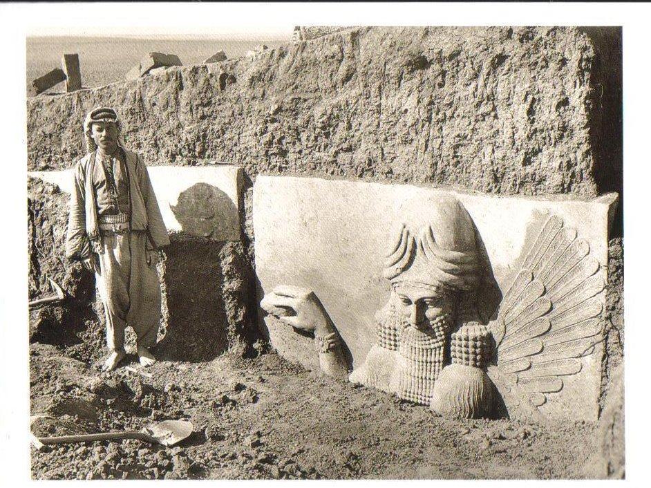 Excavation of gateway of citadel of King Sargon II Postcard