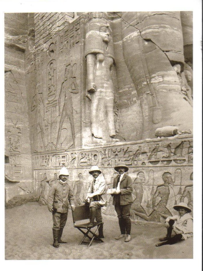 At The Entrance of the Great Temple at Abu Simbel Postcard