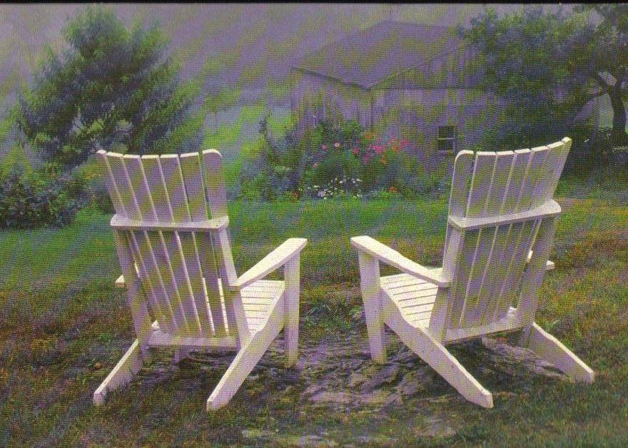 Adirondacks in a Backyard Paradise - Hallmark Postcard