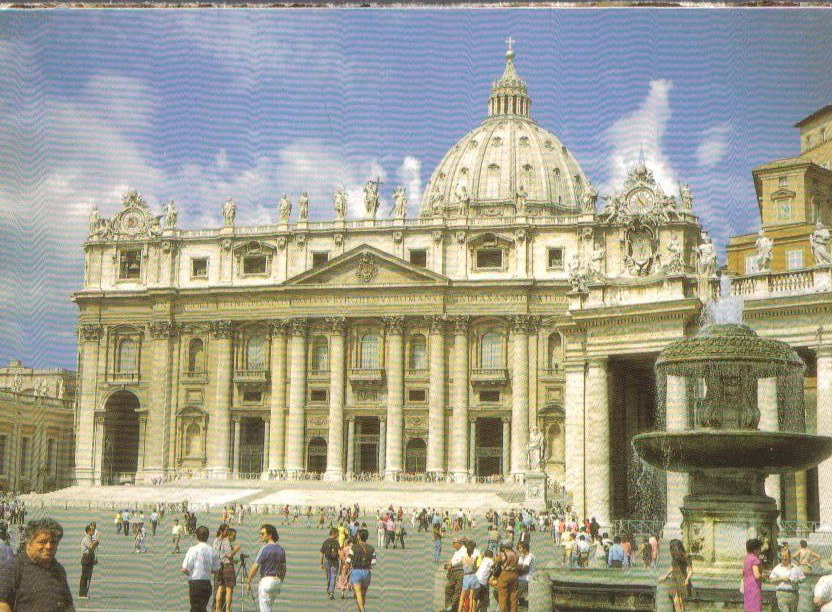 The Vatican, St. Peter's Square Italy Postcard