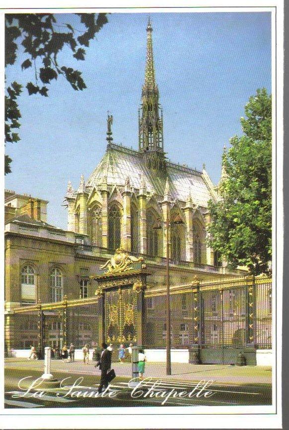 La Sainte Chapelle, Paris, France Postcard