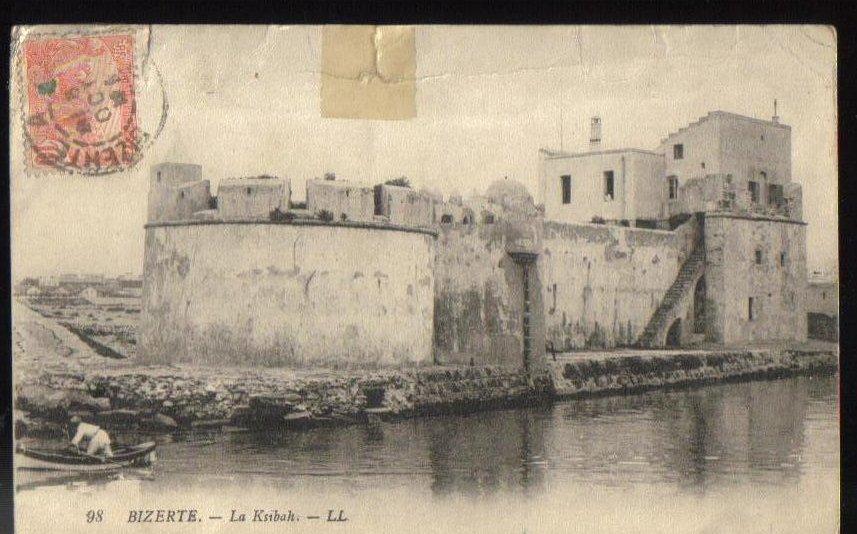 Bizerte La Ksibah Fort Tunisian Antique Postcard 1913