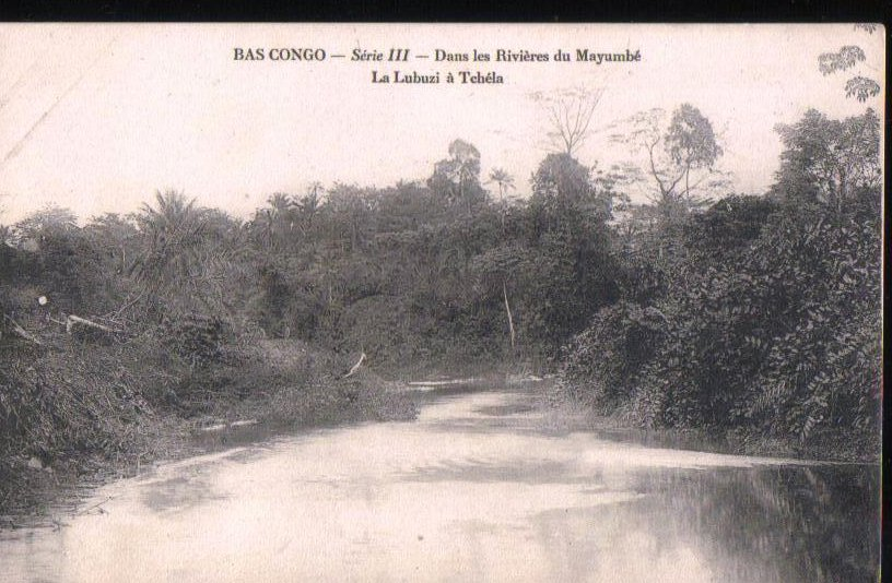 French Congo Mayumbe River Early 1900's Antique Postcard
