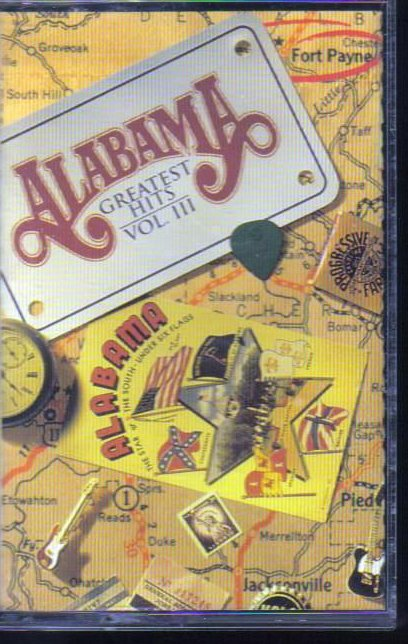 Alabama - Greatest Hits Vol 3 - Country Audio Cassette