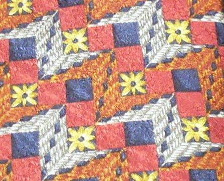 Ermenegildo Zegna Mens Silk Tie Necktie Vintage Print