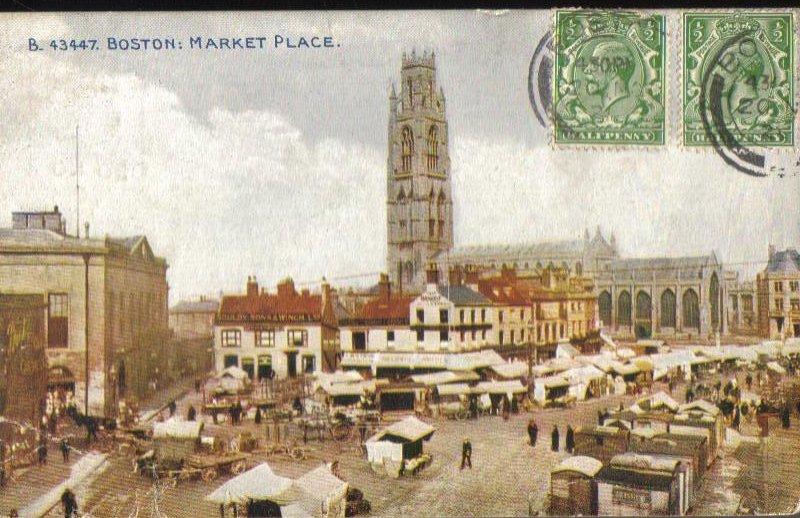 Market Place Boston Massachusetts Antique Postcard 1920