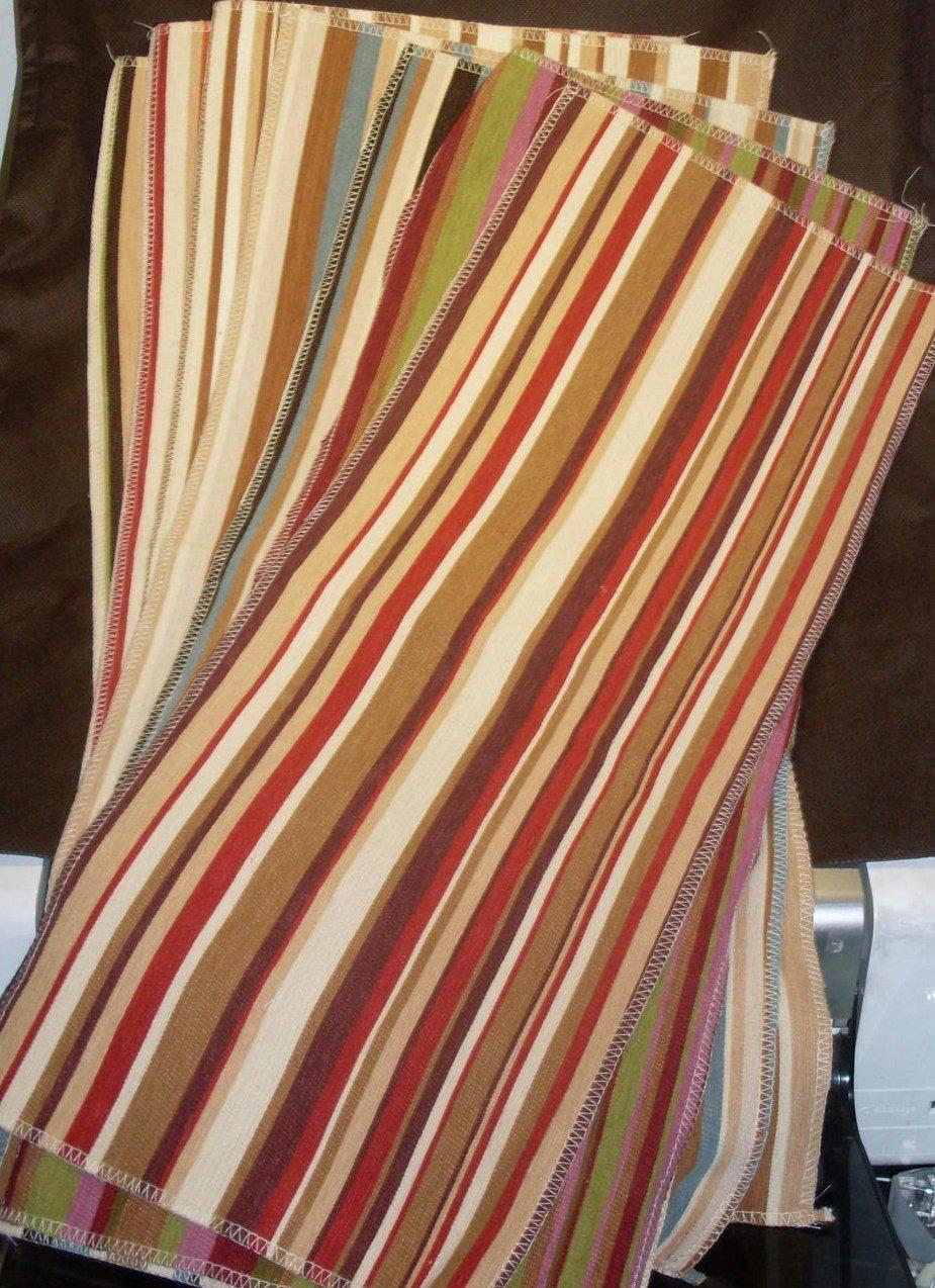 Image 0 of Selection of Striped Fabrics 7 lg pcs Various Colors Villa Nova