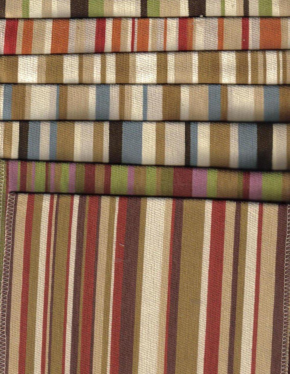 Image 2 of Selection of Striped Fabrics 7 lg pcs Various Colors Villa Nova