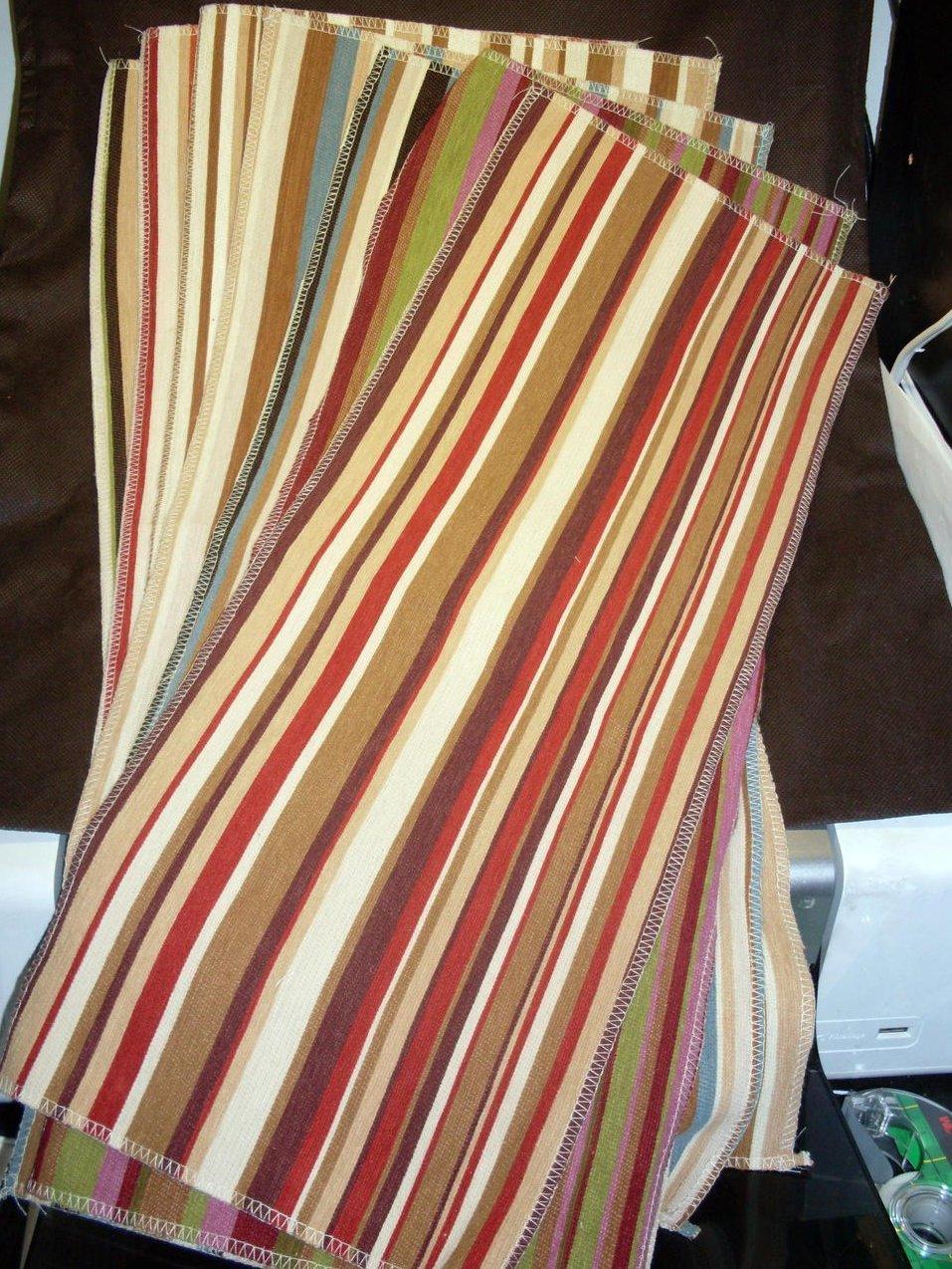 Image 3 of Selection of Striped Fabrics 7 lg pcs Various Colors Villa Nova