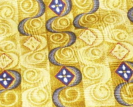 J.Z. Richards Mens Silk Tie Necktie Gold Blue Black