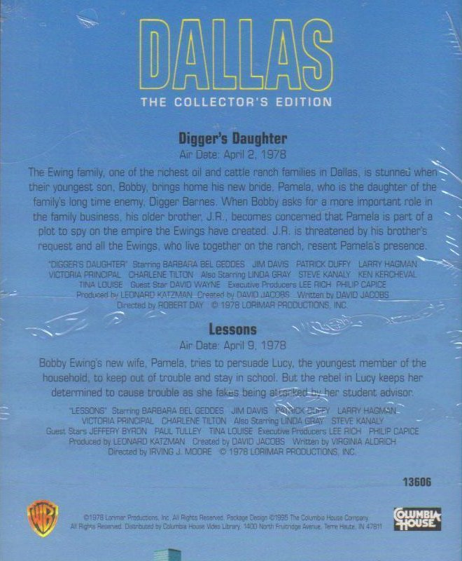 Image 1 of Dallas, The Collectors Edition VHS Diggers Daughter / Lessons