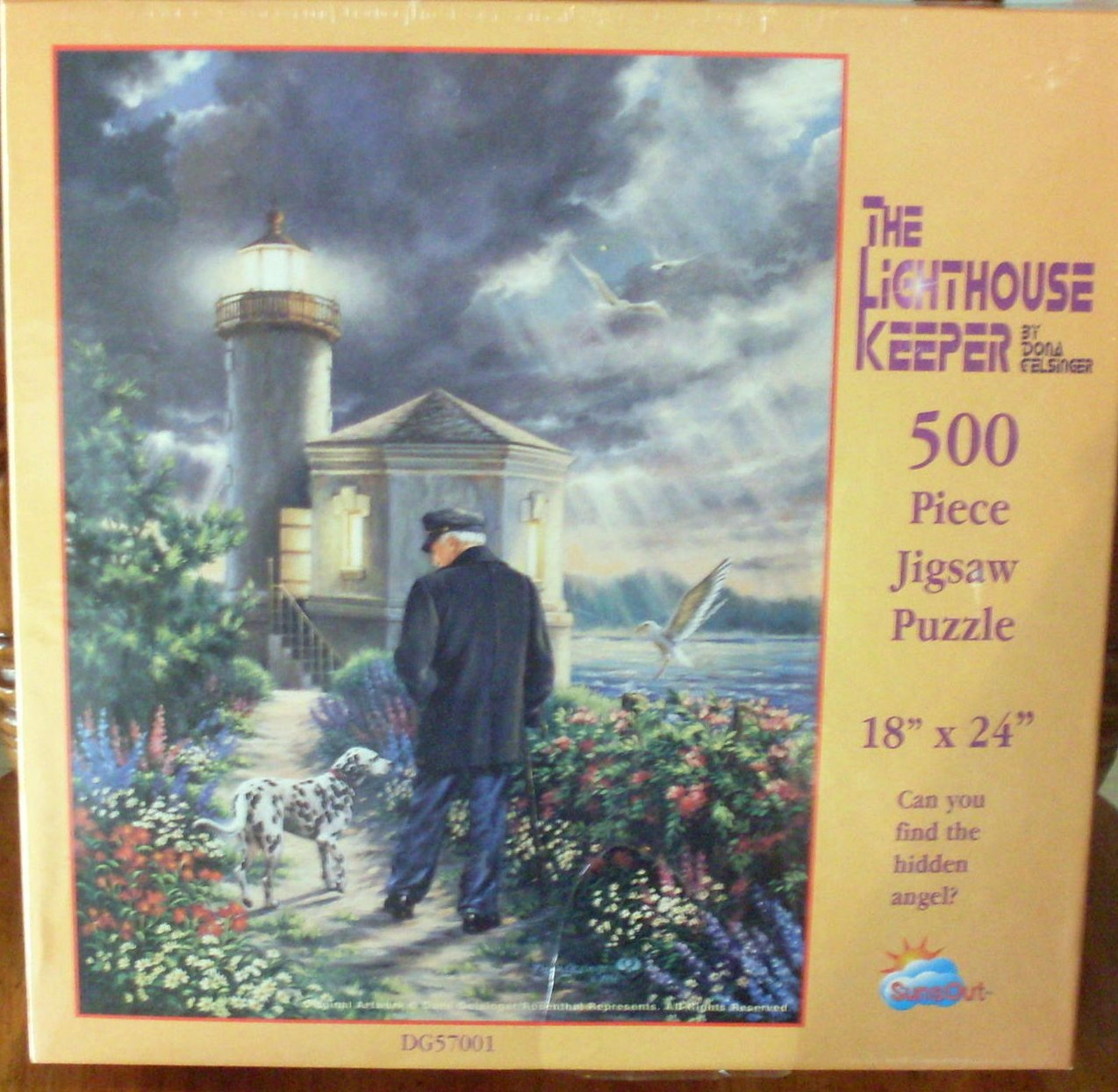 The Lighthouse Keeper 500 PC Dona Gelsinger Puzzle