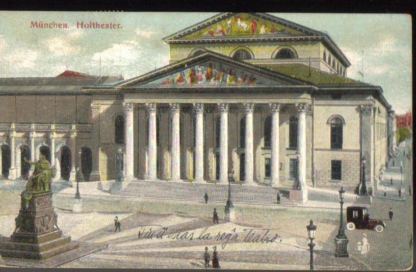 Hoitheater Munchen Munich Germany Antique Postcard 1910