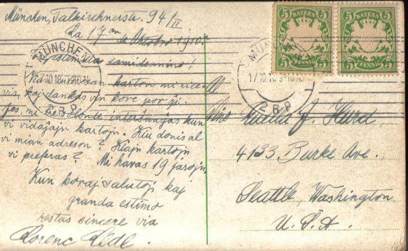 '.Hoitheater Munchen Munich 1910.'