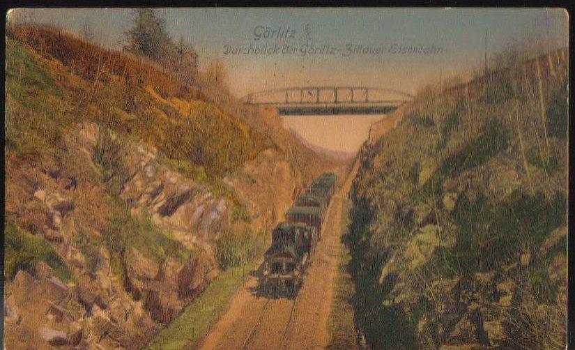 Gorlitz Locomotive German Antique Postcard 1911