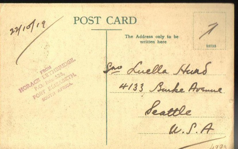 '.South Africa Postcard 1919.'