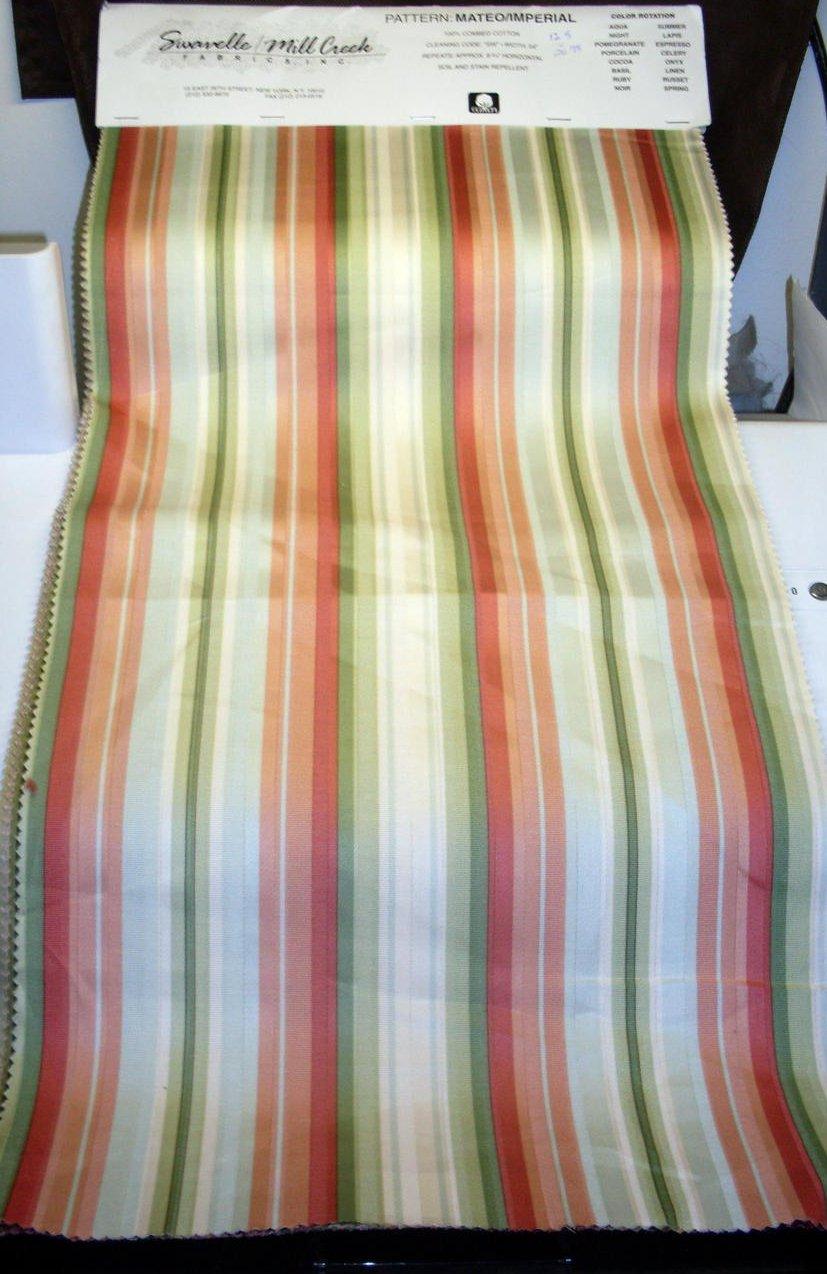 Image 0 of Mill Creek Fabrics Striped Fabrics 16 lg pcs Various Shades