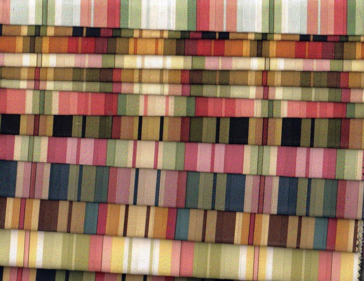 Image 2 of Mill Creek Fabrics Striped Fabrics 16 lg pcs Various Shades