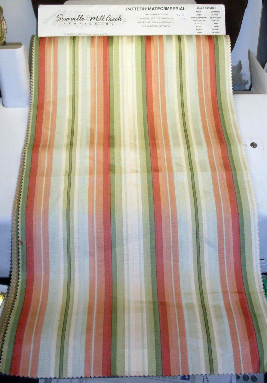 Image 3 of Mill Creek Fabrics Striped Fabrics 16 lg pcs Various Shades