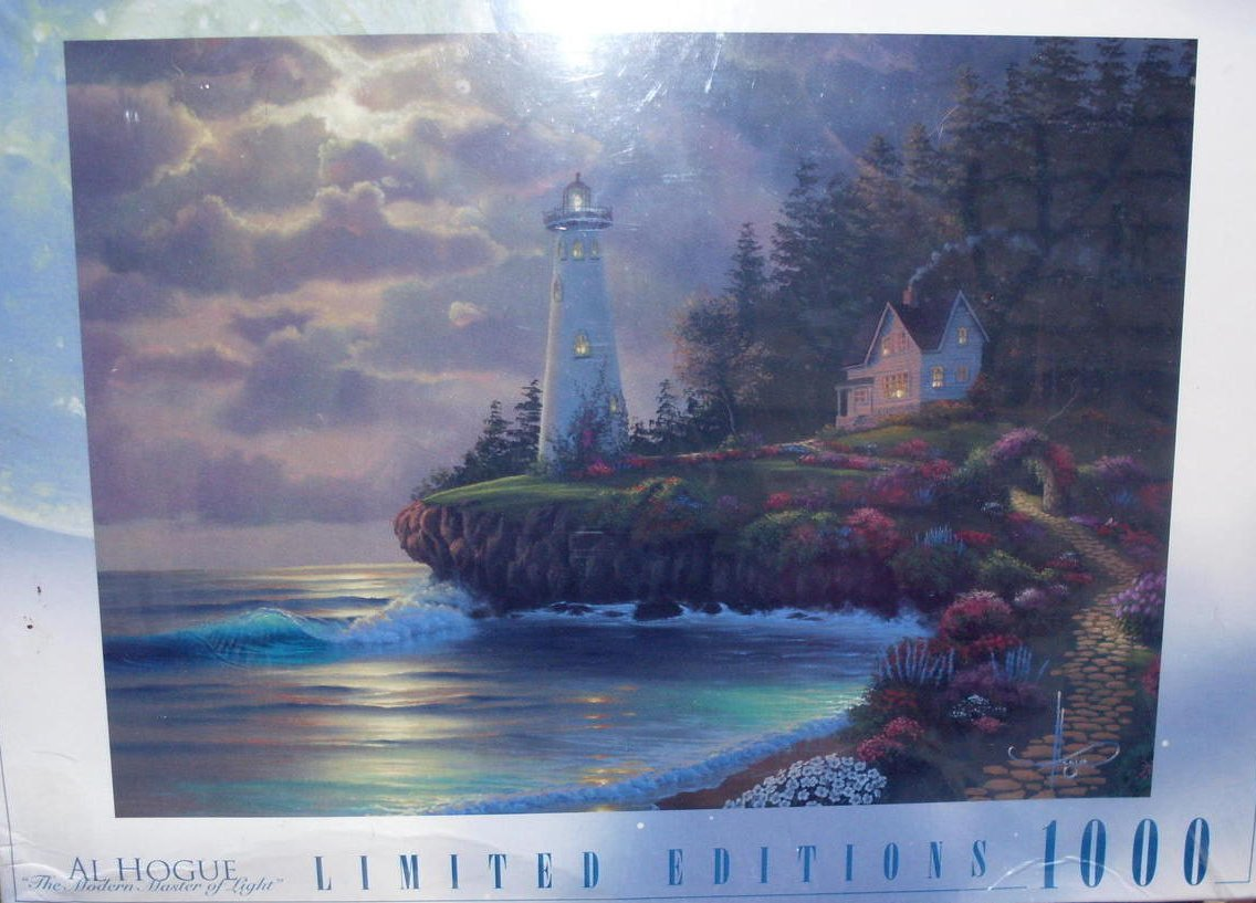 Image 0 of Al Hogue Lighthouse 1000 Piece Puzzle Limited Edition