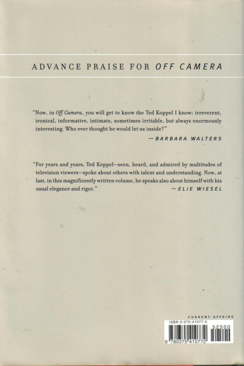 Image 1 of Off Camera: Private Thoughts Made Public - Tedd Koppel HCDJ