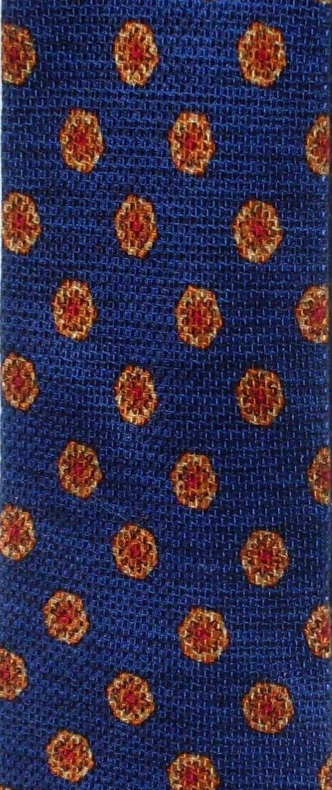 '.Silk Necktie Cobalt Blue Gold.'