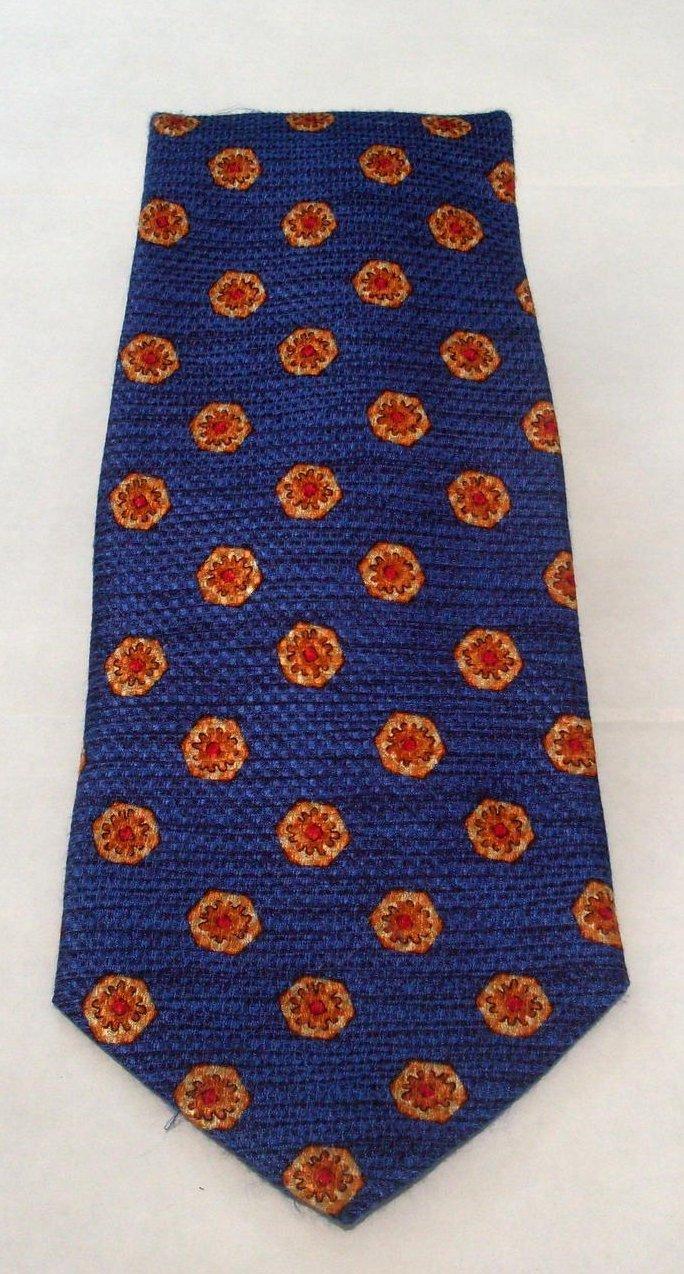 Robert Talbott Studio Mens Silk Necktie Tie Cobalt Blue Gold