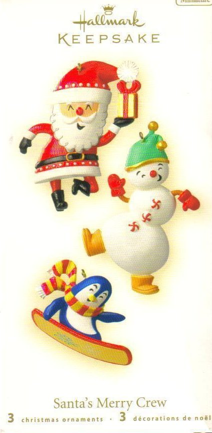 Hallmark Keepsake Ornament Santas Merry Crew Miniatures 3 pc