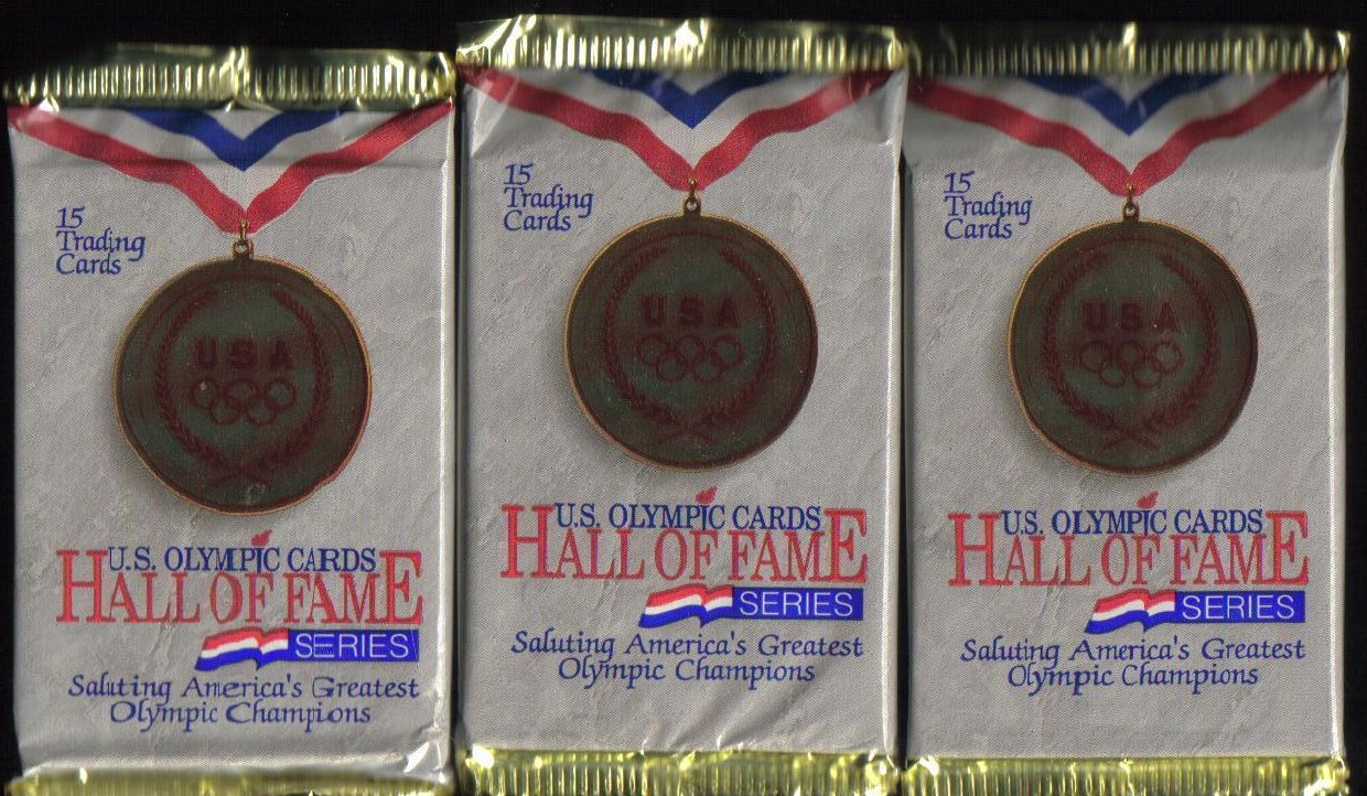 U.S. Olympic Hall of Fame Cards lot of 3 Unopened Packs 1991