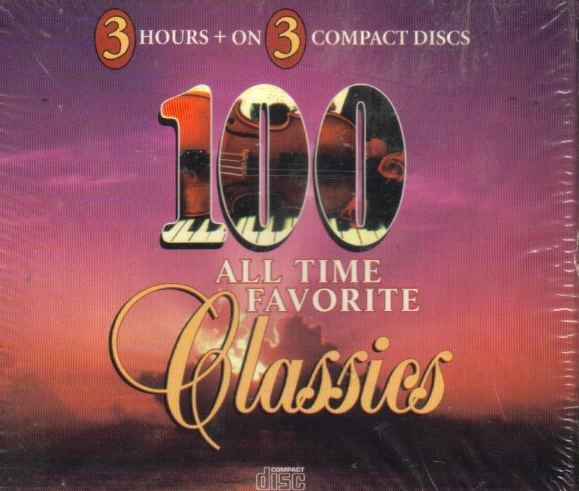 100 All Time Favorite Classics Classical Box Set Collection CD