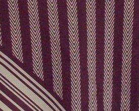 '.Stripe Herringbone Print Scarf.'