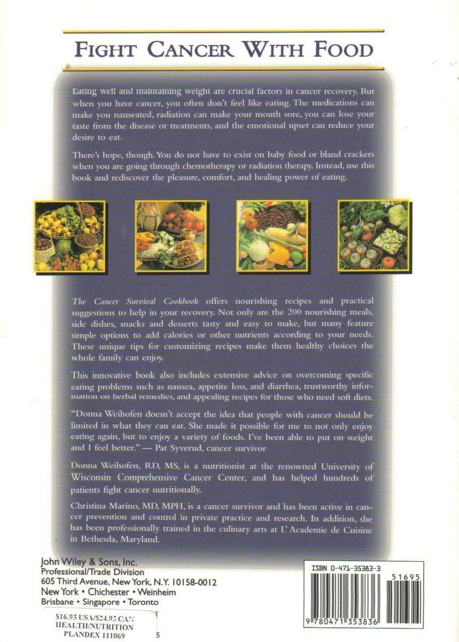 Image 1 of Cancer Survival Cookbook 200 Quick and Easy Recipes