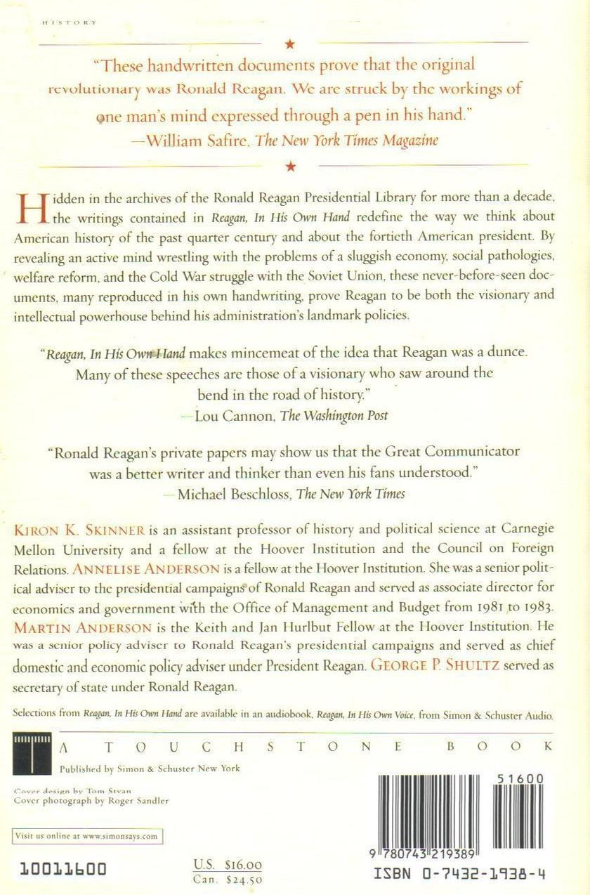 Image 1 of Reagan In His Own Hand Writings Reveal His Revolutionary Vision