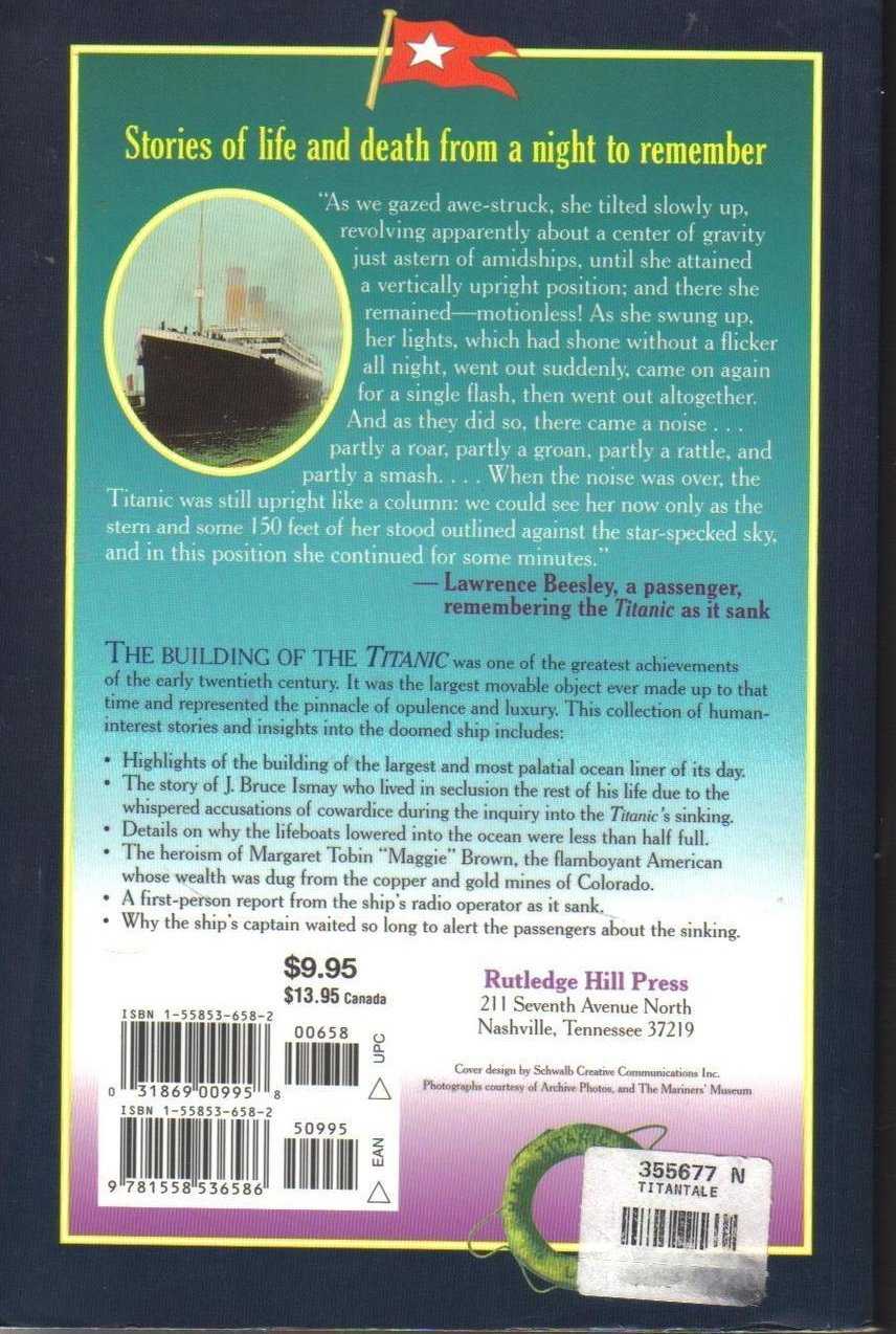 Image 1 of Treasury of Titanic Tales Stories of Life and Death A Night