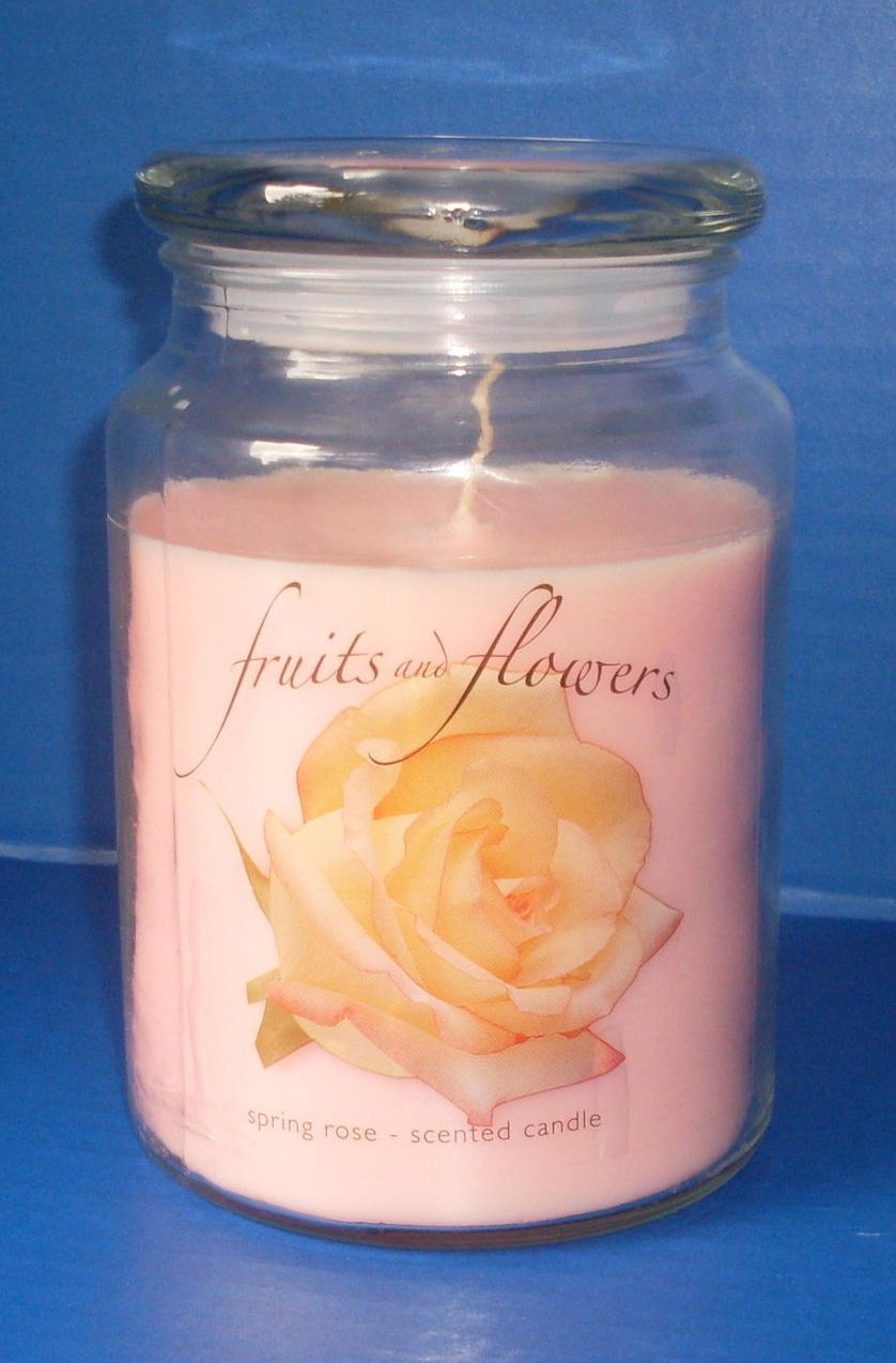 Jar Candle Spring Rose Fruits and Flowers Collection 20 oz.