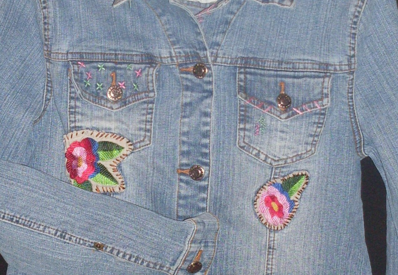 '.Jean Jacket embroidered Accent.'