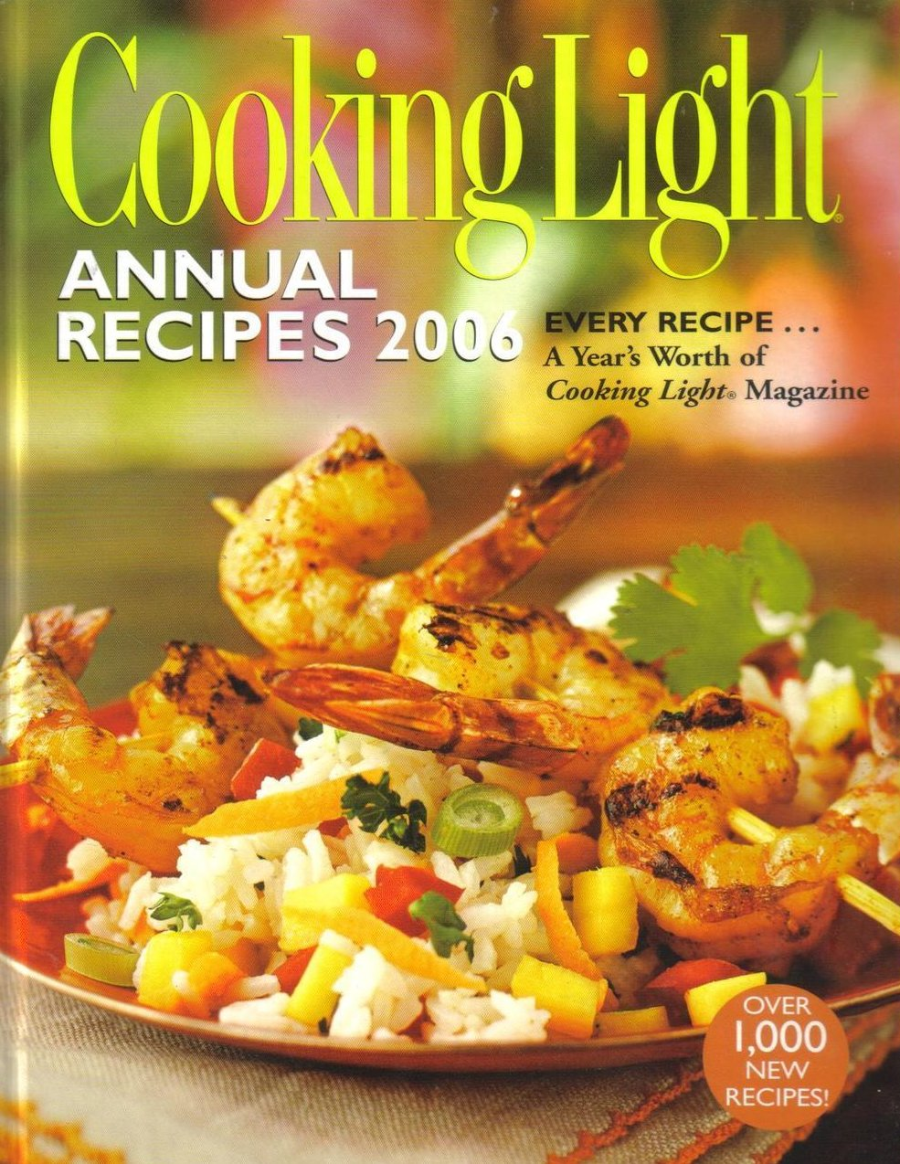 Cooking Light Annual Recipes 2006 Large HCDJ