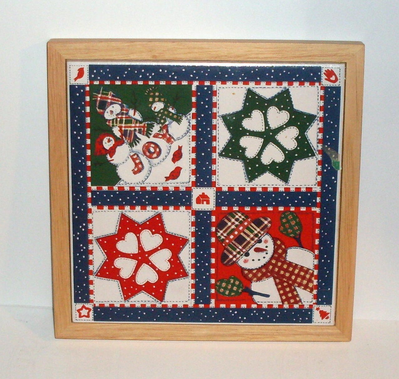 '.Holiday Ceramic Tile Trivet.'