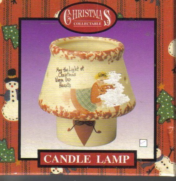Image 0 of Christmas Collectible Tealight Candle Lamp NIP