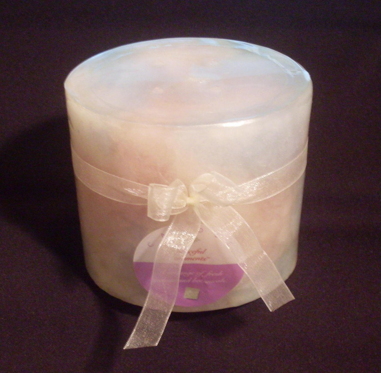 Peaceful Moments Melon And Botanicals Pillar Candle 4 inch